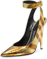 Tom Ford Watersnake Ankle-Wrap Pump