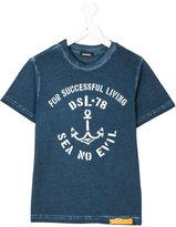 Diesel anchor print t-shirt - kids - Cotton - 6 yrs