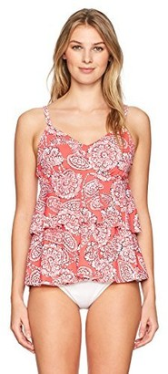 Penbrooke Women's Lady Lace Double Tier Tankini