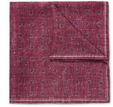 Brunello Cucinelli - Double-faced Printed Silk Pocket Square