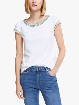 Boden Sena Embroidered Jersey Top