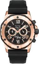 Bulova Men's Chronograph Black Rubber Strap Watch 44mm 98B104