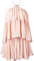 Plein Sud Jeans flared halterneck dress - women - Silk - 38