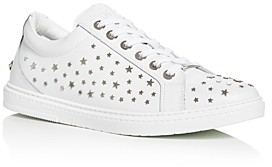 Jimmy Choo Men's Cash Star Embellished Leather Low-Top Sneakers