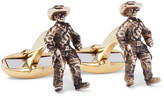 Paul Smith Cowboy Burnished Gold-tone Cufflinks - Gold