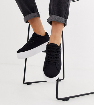 Truffle Collection wide fit flatform sneakers