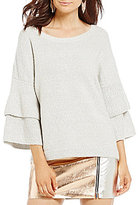 French Connection Urban Flossy Bell Sleeve Sweater