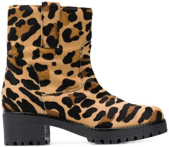 cfbd8af3cdd9 Leopard Print Chunky Heels - ShopStyle