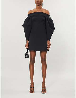 Camilla And Marc Luther off-the-shoulder puffed-sleeve crepe mini dress