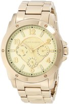 Vince Camuto Women's VC/5042CHGB Round -Tone Multi-Function Bracelet Watch