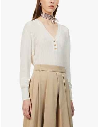 Sessun V-neck alpaca wool-blend jumper
