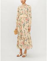 Zimmermann Kirra belted floral-print cotton and silk-blend midi dress