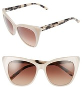 Ted Baker Women's 54Mm Cat Eye Sunglasses - Beige