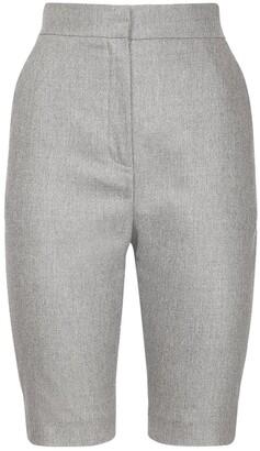 Balmain Stretch Wool Flannel Cycling Shorts