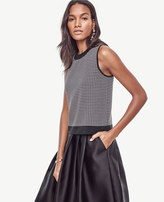 Ann Taylor Petite Houndstooth Cropped Ann Shell
