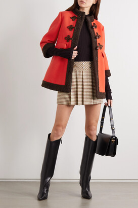 Gucci Faux Shearling-trimmed Wool Coat