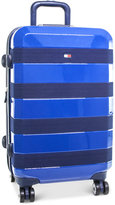 """Tommy Hilfiger Rugby Stripe 20"""" Expandable Hardside Spinner Suitcase"""