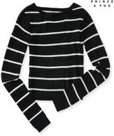 Prince & Fox Thin Stripe Cropped Sweater