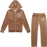 Richie House Girls' Velvet Sports Two-piece Set with Hot Drilling RH1915-J-5/6
