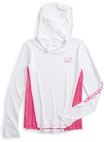 Vineyard Vines Girl's Island Whale Active Hooded Tee