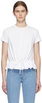 Moncler White Ruffle T-Shirt