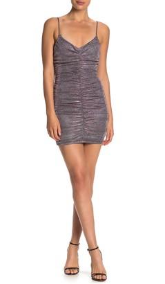 Jump Metallic Knit Slim Shirred Dress