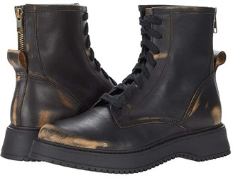Steve Madden Farley Combat Boot (Black Distressed) Women's Boots