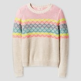 Cat & Jack Girls' Multi Striped Sweater Cat & Jack - Pink