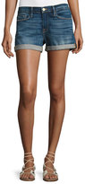 Frame Le Cutoff Cuffed Denim Shorts, Plummer