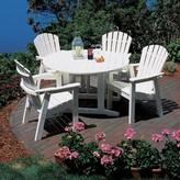 "Adirondack Plastic Dining Table Seaside Casual Finish: Grey, Table Size: 48"""