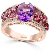 Effy Multi-Gemstone (4-3/4 ct. t.w.) and Diamond (1/8 ct. t.w.) Statement Ring in 14k Rose Gold