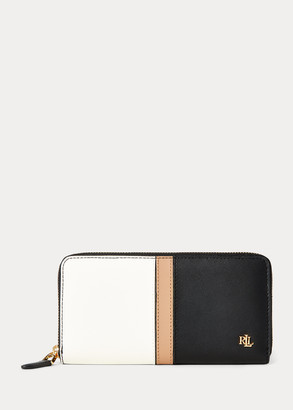Ralph Lauren Leather Continental Zip Wallet