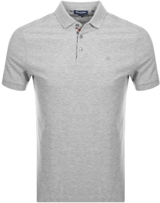 Aquascutum London Hillington Polo T Shirt Grey