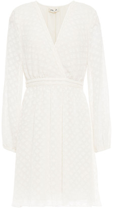 Diane von Furstenberg Wrap-effect Fil Coupe Georgette Mini Dress