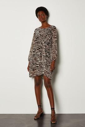 Karen Millen Zebra Print Long Sleeve Dress