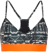 The Upside Andie Printed Stretch-jersey And Mesh Sports Bra - Black