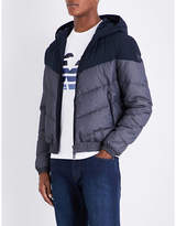 Armani Jeans Chevron Quilted Hooded Shell Jacket