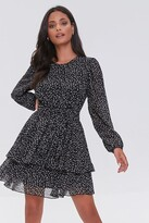 Thumbnail for your product : Forever 21 Ditsy Floral Print Chiffon Mini Dress