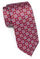 Saks Fifth Avenue 7-Fold Floral Medallion Silk Tie