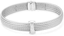 Alor Classique Multi-Row Pave Diamond Bangle