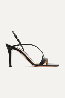 Gianvito Rossi Manhattan 85 Leather Sandals - Black