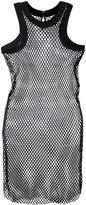 Sacai fishnet tank dress - women - Cotton - 1