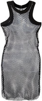 Sacai fishnet tank dress - women - Cotton - 2