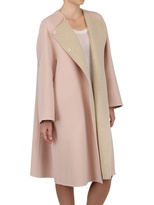 Jil Sander - Two Tone Soft Wool Cocoon Coat