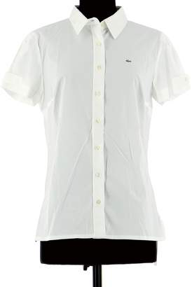 Lacoste White Cotton Top for Women