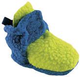 Luvable Friends Lime & Blue Fleece Booties - Infant