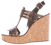 Tory Burch Leslie Wedge Sandals w/ Tags