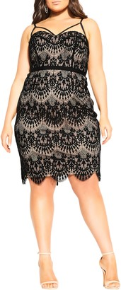 City Chic Brianna Lace Cocktail Dress
