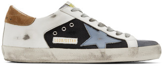 Golden Goose Black and White Superstar Sneakers