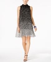 Jessica Howard Petite Mock-Neck Shift Dress